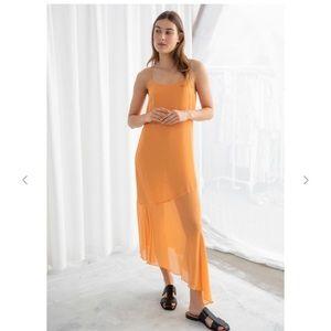NWT & Other Stories Bias Cut Midi Dress, Size 2